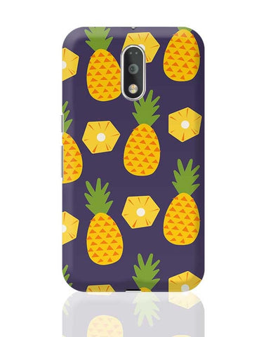 """Pineapple""  Blue background Moto G4 Plus Online India"