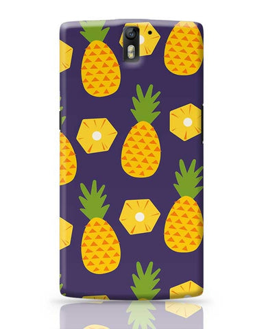 """Pineapple""  Blue background OnePlus One Covers Cases Online India"