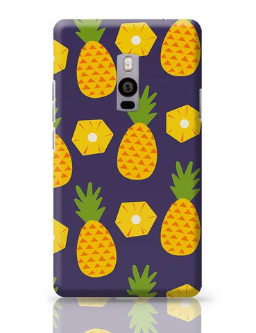 """Pineapple""  Blue background OnePlus Two Covers Cases Online India"