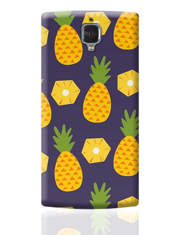 """Pineapple""  Blue background OnePlus 3 Covers Cases Online India"