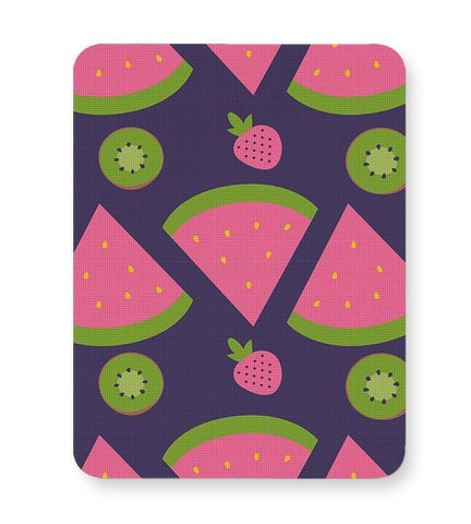 """Watermelon Strawberry ""  blue backgrond Mousepad Online India"