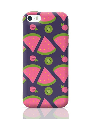 """Watermelon Strawberry ""  blue backgrond iPhone 5/5S Covers Cases Online India"