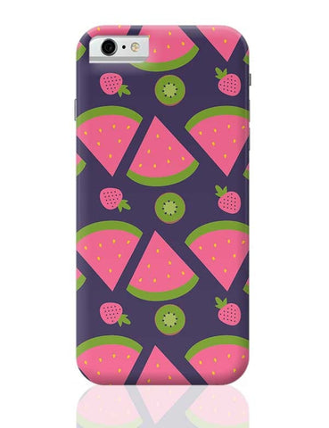 """Watermelon Strawberry ""  blue backgrond iPhone 6 6S Covers Cases Online India"