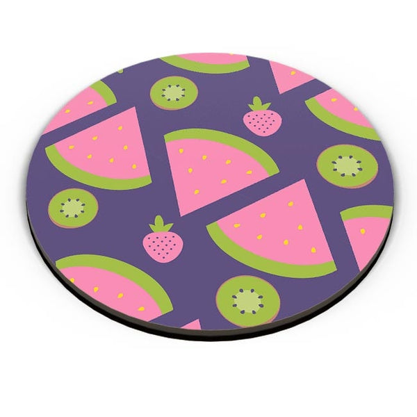 """Watermelon Strawberry ""  blue backgrond Fridge Magnet Online India"