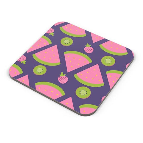"""Watermelon Strawberry ""  blue backgrond Coaster Online India"
