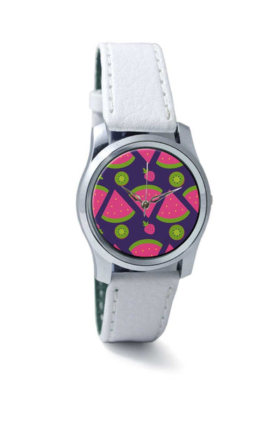 "Women Wrist Watch India | ""Watermelon Strawberry "" blue backgrond Wrist Watch Online India"