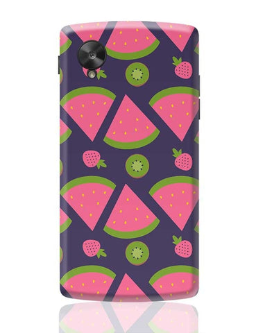 """Watermelon Strawberry ""  blue backgrond Google Nexus 5 Covers Cases Online India"