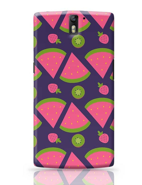 """Watermelon Strawberry ""  blue backgrond OnePlus One Covers Cases Online India"