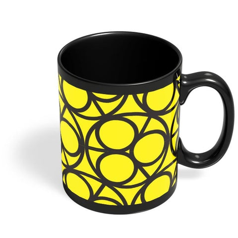 3 Ring Abstract Black Coffee Mug Online India