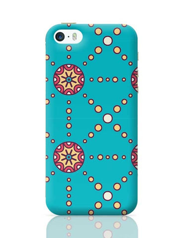 """Polka Dots Ring"" sky color background iPhone 5/5S Covers Cases Online India"