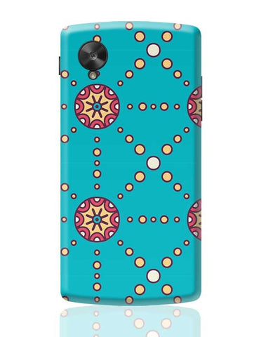 """Polka Dots Ring"" sky color background Google Nexus 5 Covers Cases Online India"