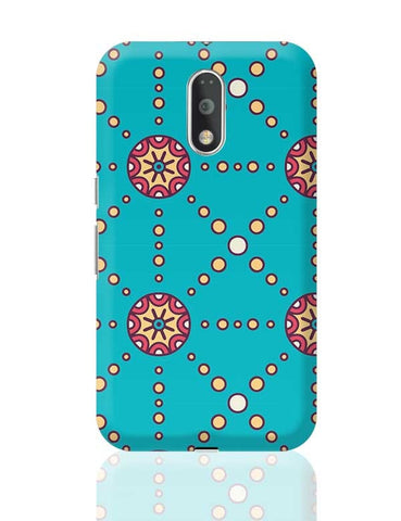 """Polka Dots Ring"" sky color background Moto G4 Plus Online India"