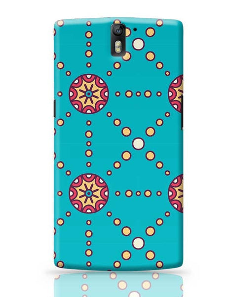 """Polka Dots Ring"" sky color background OnePlus One Covers Cases Online India"