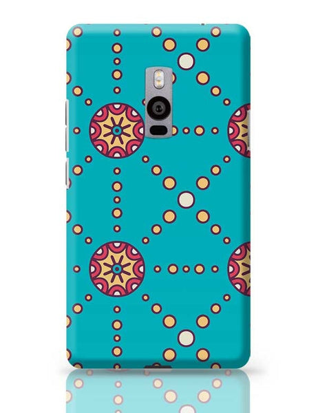 """Polka Dots Ring"" sky color background OnePlus Two Covers Cases Online India"