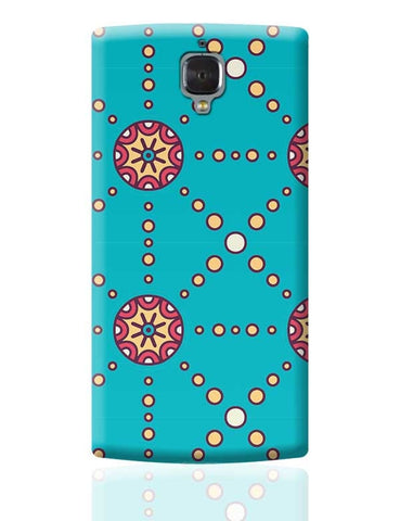 """Polka Dots Ring"" sky color background OnePlus 3 Covers Cases Online India"
