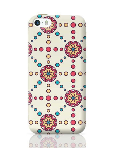 """Polka Dots Ring""White Background iPhone 5/5S Covers Cases Online India"