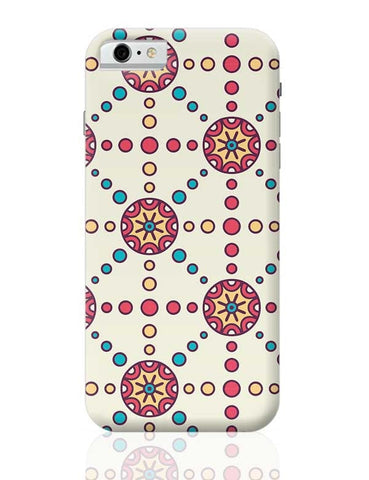 """Polka Dots Ring""White Background iPhone 6 6S Covers Cases Online India"