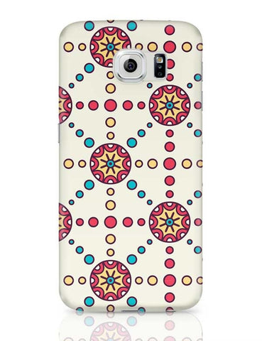 """Polka Dots Ring""White Background Samsung Galaxy S6 Covers Cases Online India"