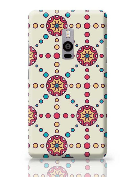 """Polka Dots Ring""White Background OnePlus Two Covers Cases Online India"