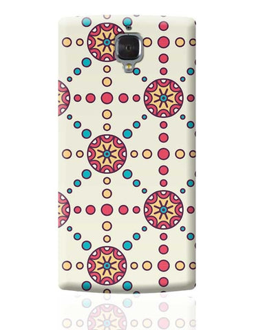 """Polka Dots Ring""White Background OnePlus 3 Covers Cases Online India"