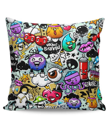 Cartoon Mash Cushion Cover Online India