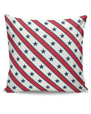 Grey star with red background Cushion Cover Online India