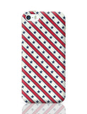 Grey star with red background iPhone 5 / 5S / 5SE Covers Cases