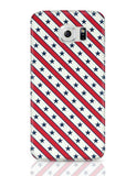 Grey star with red background Galaxy S6 Covers Cases