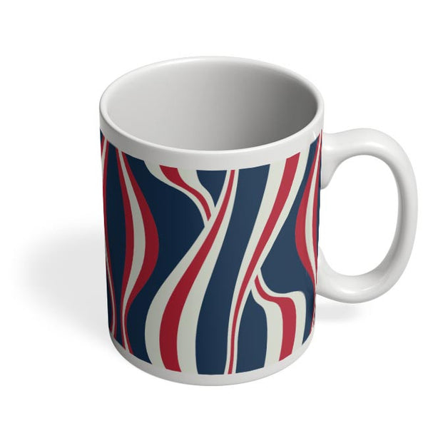 Waving Ribbon with blue bacground Coffee Mug Online India