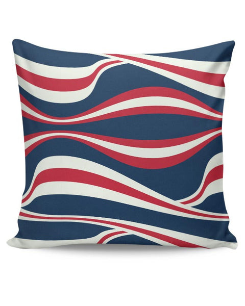 Waving Ribbon with blue bacground Cushion Cover Online India