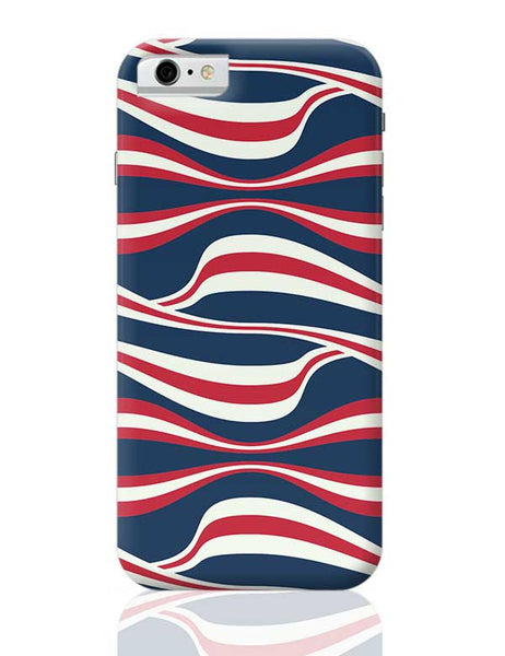 Waving Ribbon with blue bacground iPhone 6 6S Covers Cases Online India
