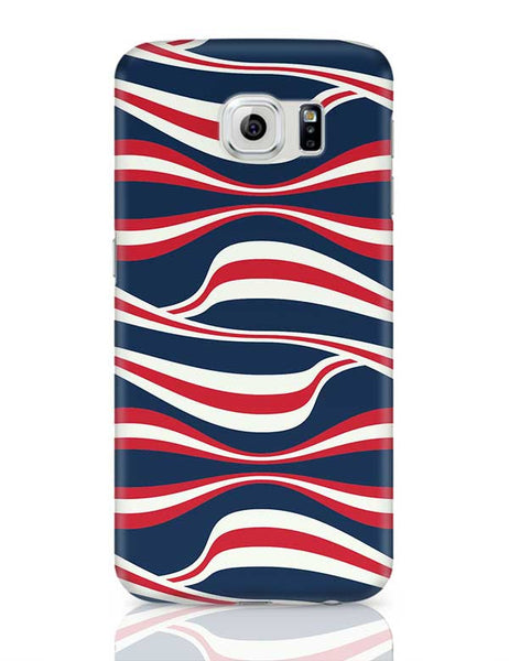 Waving Ribbon with blue bacground Samsung Galaxy S6 Covers Cases Online India