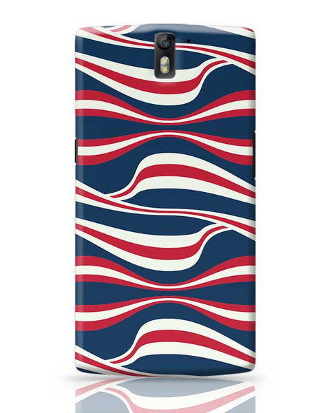 Waving Ribbon with blue bacground OnePlus One Covers Cases Online India