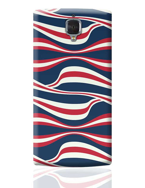 Waving Ribbon with blue bacground OnePlus 3 Covers Cases Online India