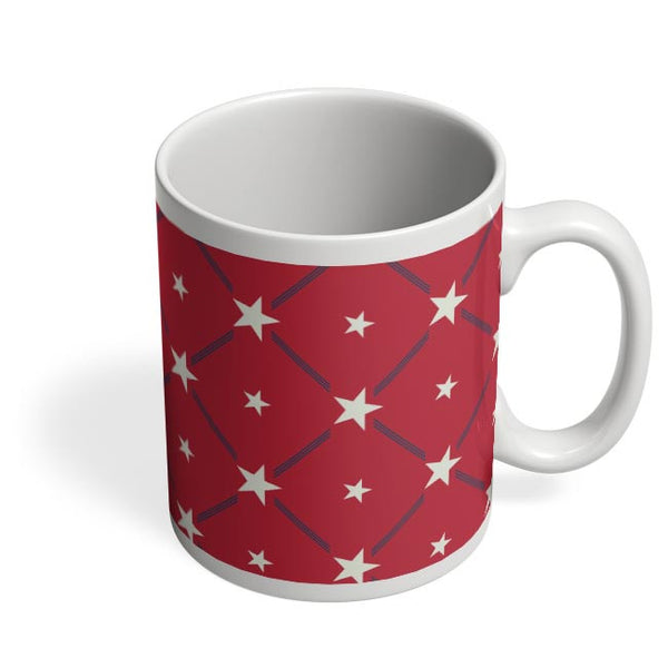 White Star with red background Coffee Mug Online India