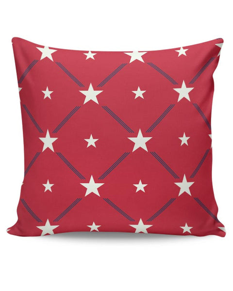 White Star with red background Cushion Cover Online India