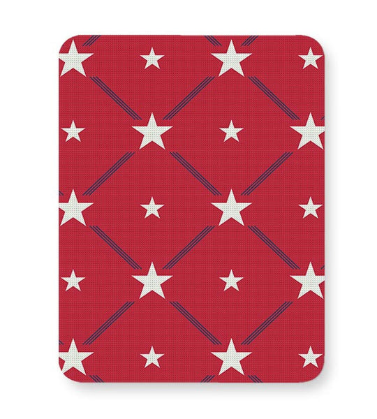 White Star with red background Mousepad Online India