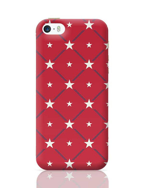 White Star with red background iPhone 5/5S Covers Cases Online India