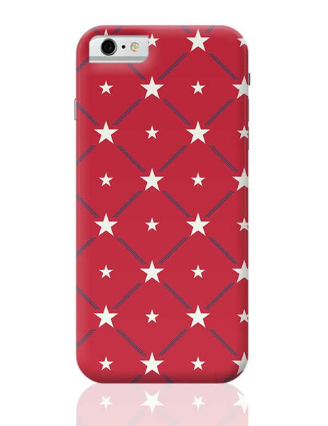 White Star with red background iPhone 6 / 6S Covers Cases