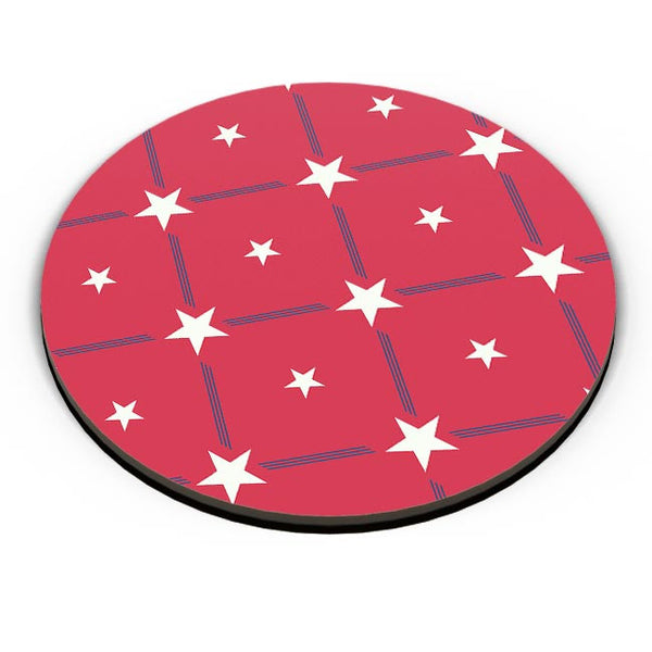 White Star with red background Fridge Magnet Online India