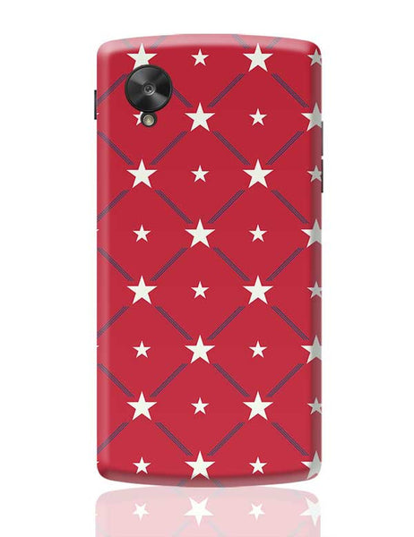 White Star with red background Google Nexus 5 Covers Cases Online India