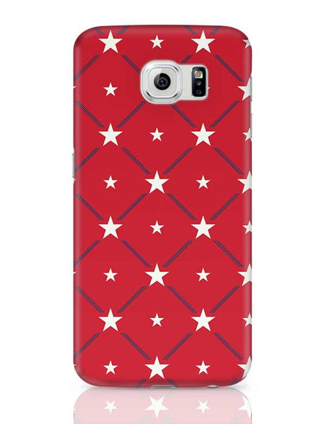 White Star with red background Samsung Galaxy S6 Covers Cases Online India
