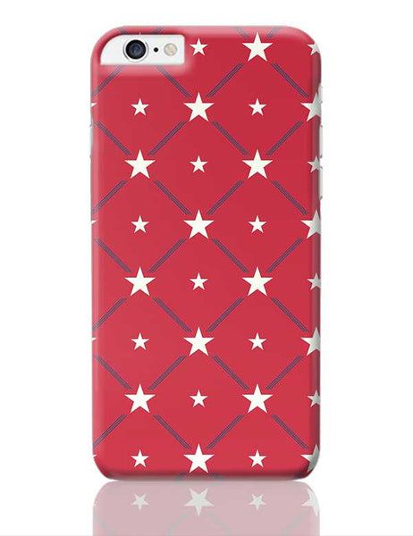 White Star with red background iPhone 6 Plus / 6S Plus Covers Cases Online India