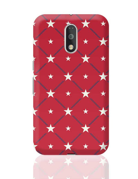 White Star with red background Moto G4 Plus Online India