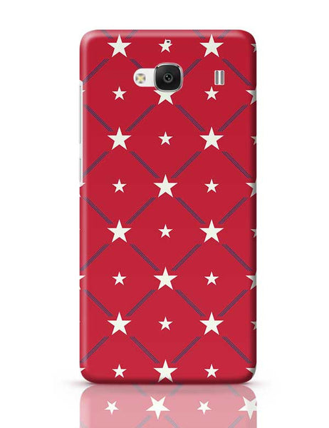 White Star with red background Redmi 2 / Redmi 2 Prime Covers Cases Online India