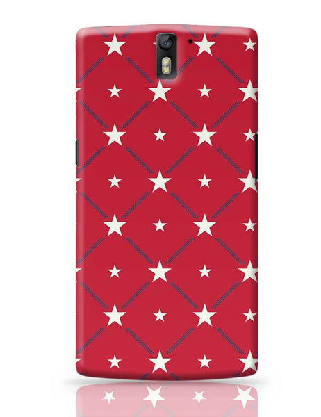 White Star with red background OnePlus One Covers Cases Online India