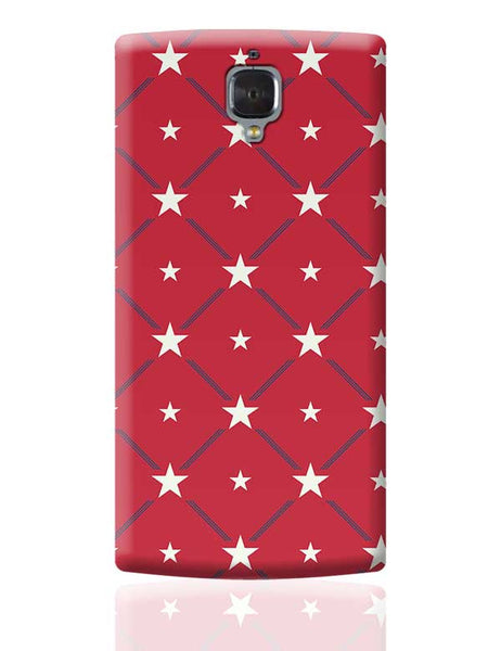 White Star with red background OnePlus 3 Covers Cases Online India