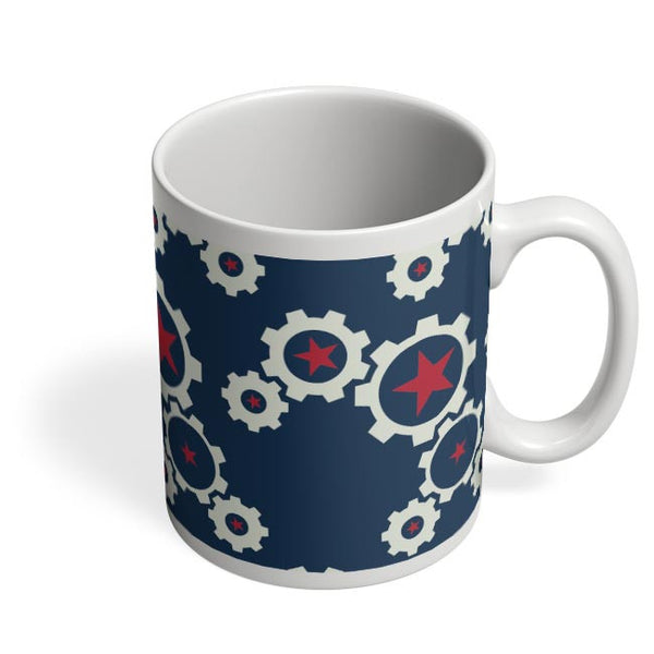 Star Wheel with blue background Coffee Mug Online India