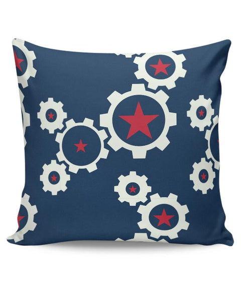 Star Wheel with blue background Cushion Cover Online India