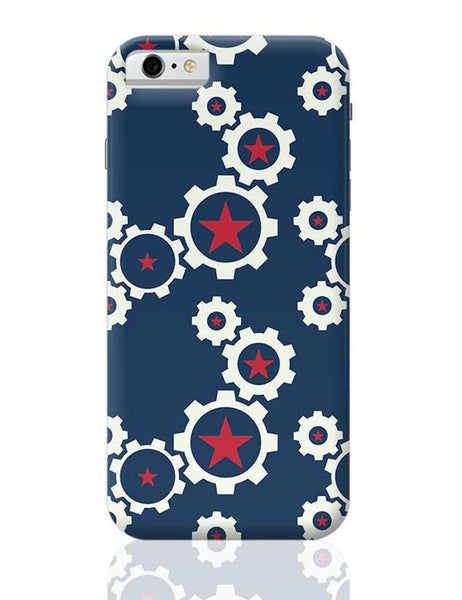 Star Wheel with blue background iPhone 6 / 6S Covers Cases